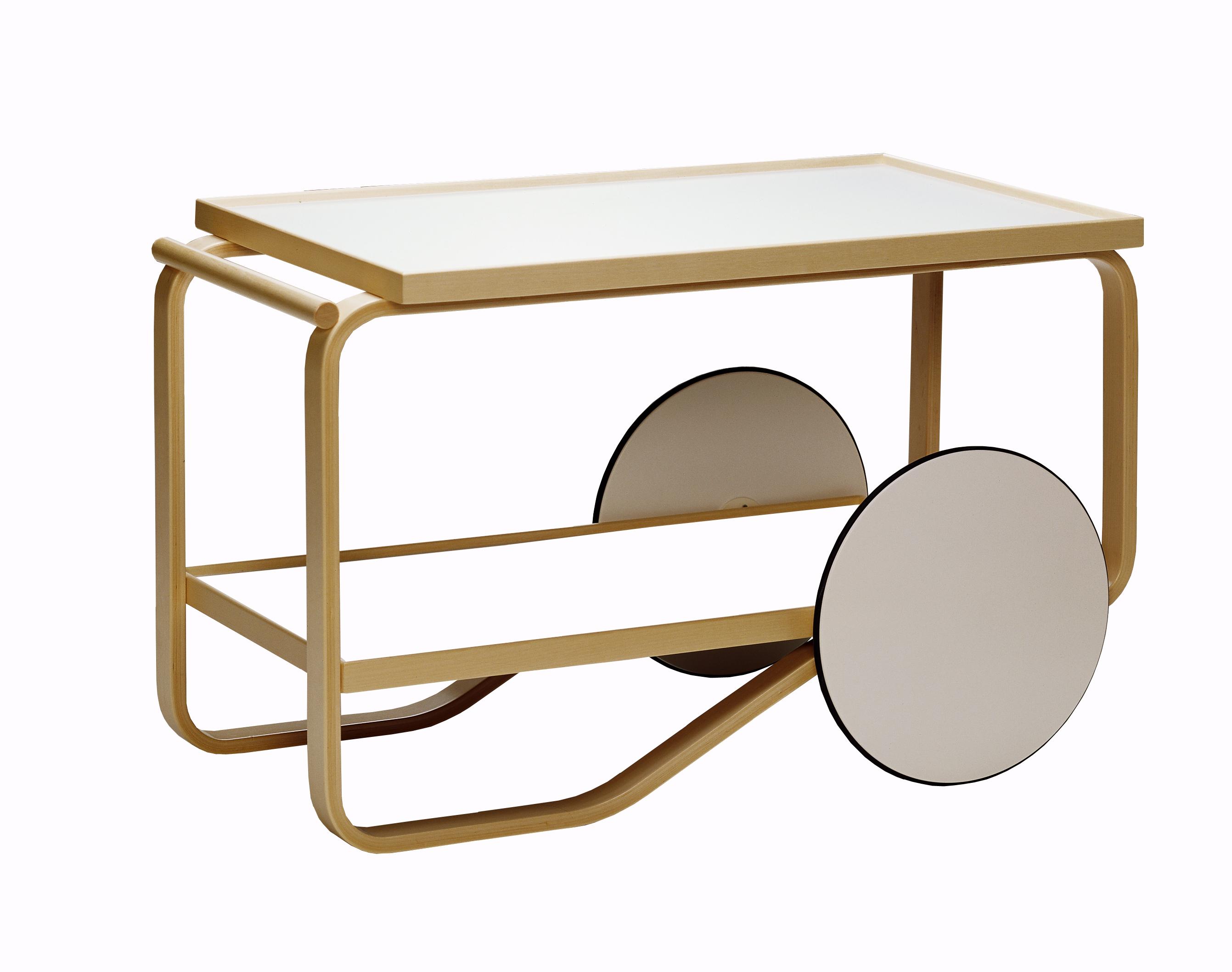 Alvar aalto 39 s furnitures tea trolley 901 artek - Table roulante desserte ...