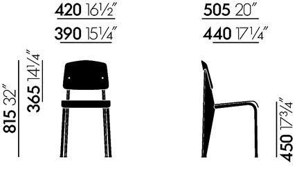 vitra standard sp chair jean prouv. Black Bedroom Furniture Sets. Home Design Ideas